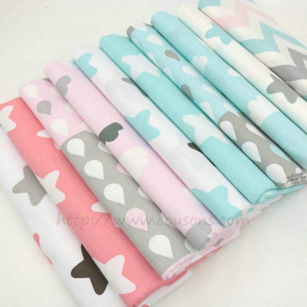coupon tissu coton - assortiment kalani - 0001