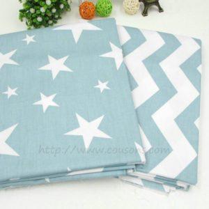 tissu Hoku A05 et A06 - etoiles et vagues bleu clair - 01