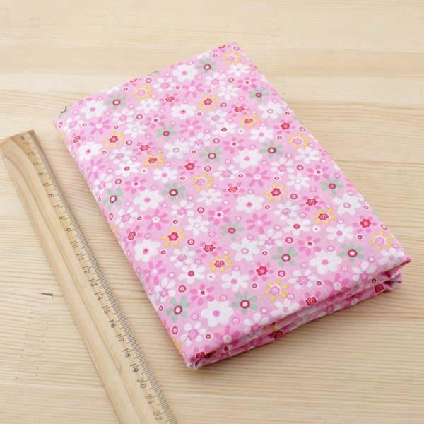 01 - tissu Armérie - Rose à fleurs multicolores