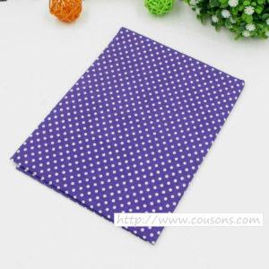 01 - tissu violet - collection Lavande - Violet petits pois blancs