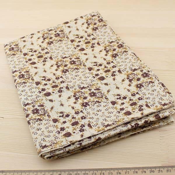 02 - collection Typha - tissu a motifs floraux bruns