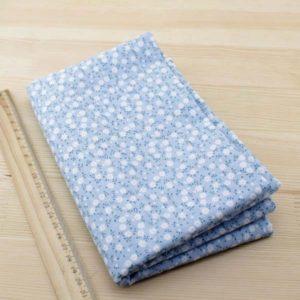 02 - tissu bleu - collection Ceanothe - bleu clair à petites fleurs blanches