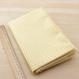 02 - tissu carreaux - jaune-orange