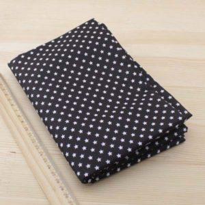 03 - tissu noir - collection Tacca - etoiles noires