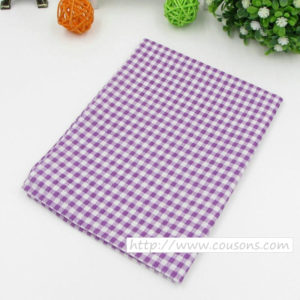 03 - tissu violet - collection Lavande - Carreaux violets