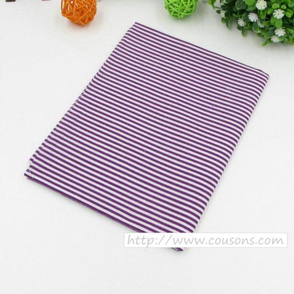04 - tissu violet - collection Lavande - Rayures violettes