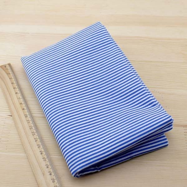 05 - tissu bleu - collection Ceanothe - rayures bleues