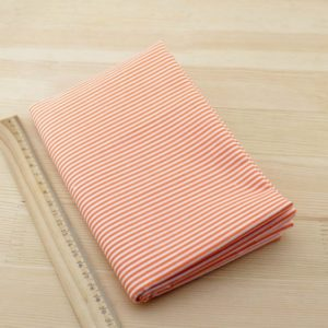 05 - tissu jaune orange - collection Arnica - rayures orange
