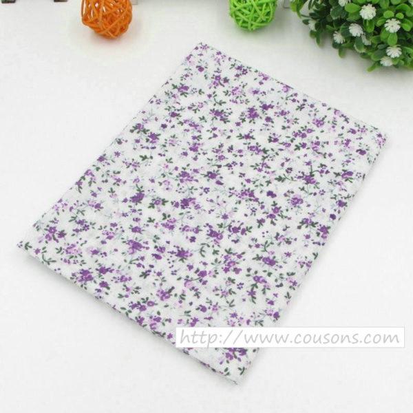 05 - tissu violet - collection Lavande - Motifs floraux violets