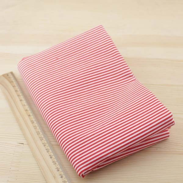 06 - tissu Coquelicot - rayures rouges