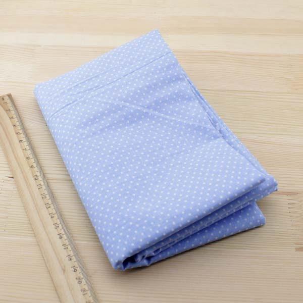 06 - tissu bleu - collection Ceanothe - bleu clair à petits pois blancs