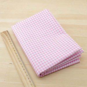 06 - tissu carreaux - rose