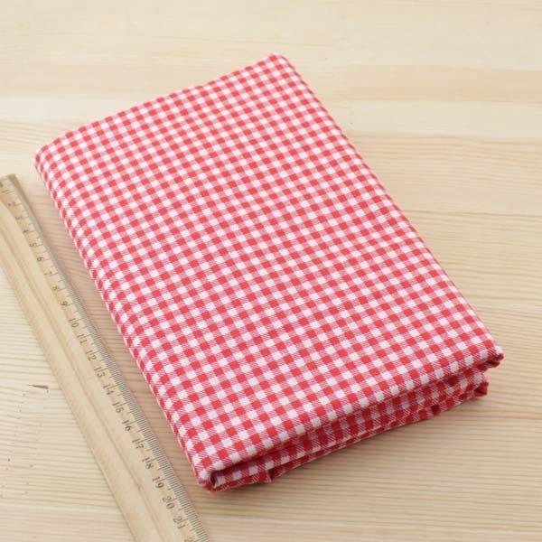 07 - tissu Coquelicot - carreaux rouges