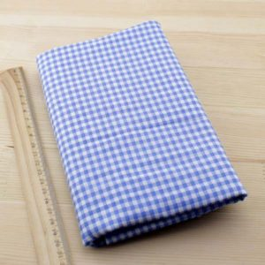 07 - tissu carreaux - bleu clair