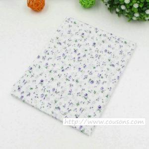 07 - tissu violet - collection Lavande - Petites fleurs violettes