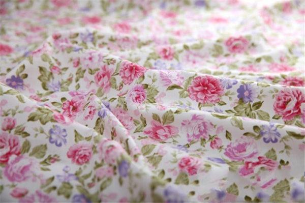 coupon tissu coton sergé - assortiment rose - 01