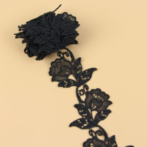 ruban dentelle noire roses 01