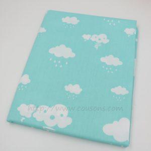 tissu Eguraldi - nuages pluie soleil rose bleu gris - 0301