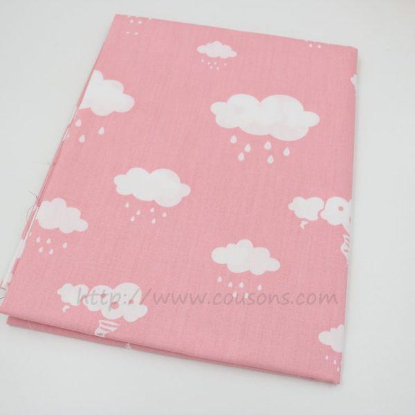 tissu Eguraldi - nuages pluie soleil rose bleu gris - 0501
