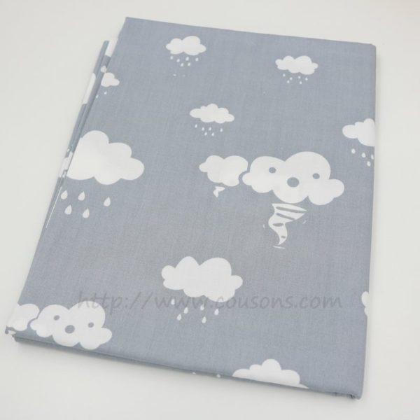 tissu Eguraldi - nuages pluie soleil rose bleu gris - 0701