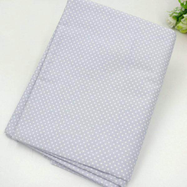 tissu gris - collection perle - 05 - pois blancs
