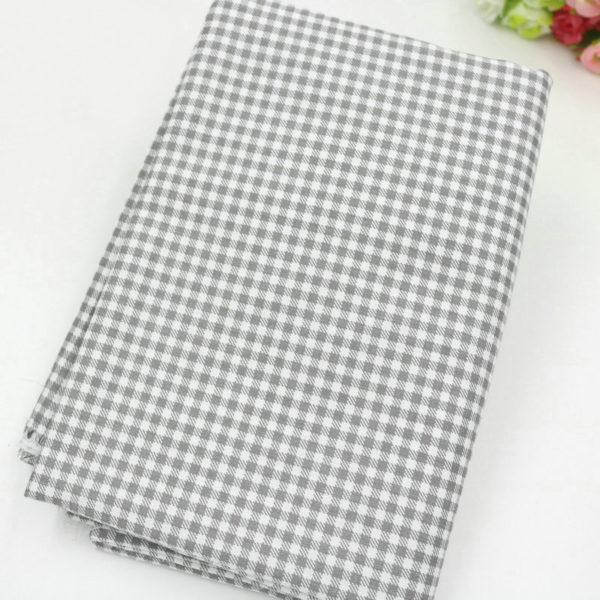 tissu gris - collection perle - 06 - carreaux